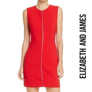 Elizabeth and James NWT Red Zip-Front Mini Dress 2
